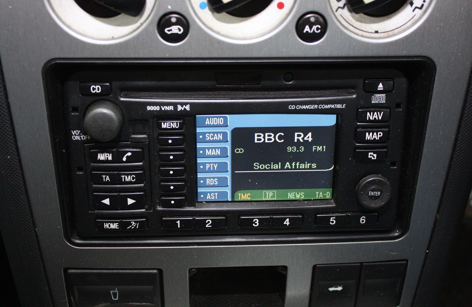 Ford Focus Mk1 Mondeo Mk3 Cd 9000 Vns Sat Nav Navigation